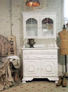 Painted Cottage Chic Shabby White Farmhouse by paintedcottages, $495.00