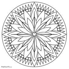 New Meditative Colouring Mandala! April 2016 – Pure Craft Nz