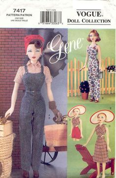 Sewing Pattern Vogue 7417 Gene Doll Clothes pdf by vintagelovesyou, $5.00