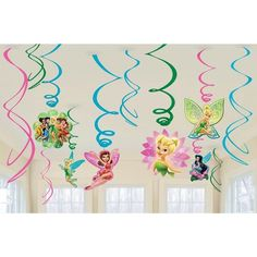 Check out Tinkerbell Plastic Swirl Hanging Decorations - Reduced Individual…