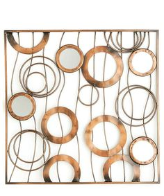 Metal Circle Wall Art large horchow outdoor mingling circles wall art decor plaque patio