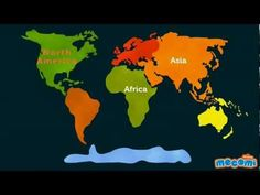 7 Continents of the world - Geography videos for Kids