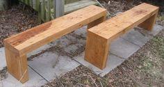 Bench - vintage hickory slabs