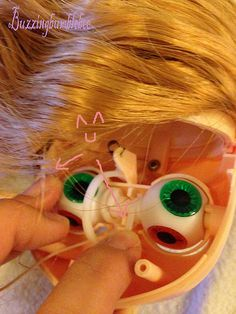 Tutorial Blythe eyes customizing tutorial <3