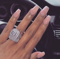 New Nails Design Vino Pink 62 Ideas New Nails Design Vino Pink 62 Ideas New Nail Designs, Nail Designs Spring, Ring Designs, Big Wedding Rings, Dream Wedding, Beautiful Engagement Rings, Dream Ring, Diamond Are A Girls Best Friend, Coffin Nails