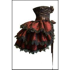 Burlesque Exotica Steampunk Bustle Skirt Gothic Rouge Cosplay Lolita ZORITA Showgirl Las Vegas Moulin