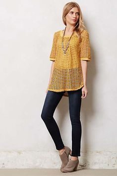 Anthropologie - Senoia Pullover; booties look cool also.