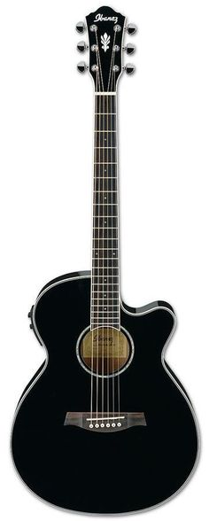 Ibanez AEG10II BK Acoustic Electric Guitar | Black Finish i think this with some personalized art is my ultimate guitar