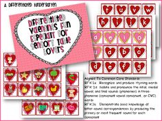 A Differentiated Kindergarten: Free Differentiated Valentines Fun for Sensory Table Lovers Differentiated Kindergarten, Kindergarten Freebies, Word Work Activities, Literacy Activities, Literacy Centers, Valentine Theme, Valentine Sensory, Apple Theme, Sensory Table