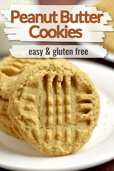 This easy recipe for Gluten Free Peanut Butter Cookies is a must bake for peanut butter fans. These cookies are soft, chewy, and filled with peanut butter flavor. Add these peanut butter cookies to your gluten free cookie platter.