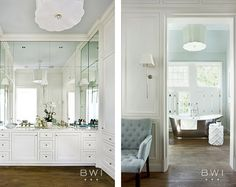 I like the shutters over the tub that are either fully closed for privacy or open for light. Beth Webb Interiors