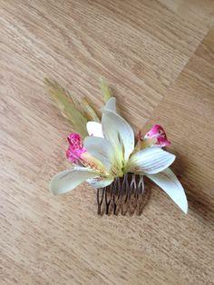 Peineta orquídeas
