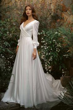 My Princess, Bridal Dresses, One Shoulder Wedding Dress, Dream Wedding, Gowns, Bride, Satin, Womens Fashion, Fashion Design