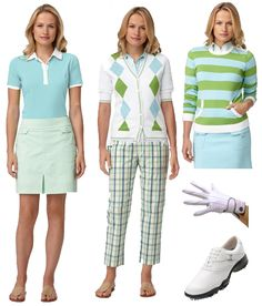 women golf outfits | Women's Golf Apparel at the Masters | What2WearWhere.com
