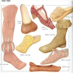 Footwear of the 1500's