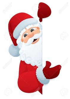 Illustration of Santa Claus, holding a blank sign. You can add as much white space as you need. No transparency used. Basic (linear) gradients used. vector art, clipart and stock vectors. Christmas Photo Booth, Christmas Yard Art, Christmas Crafts For Adults, Christmas Snowflakes, Felt Christmas, Christmas Design, Outdoor Christmas, Christmas Photos, Christmas Decorations