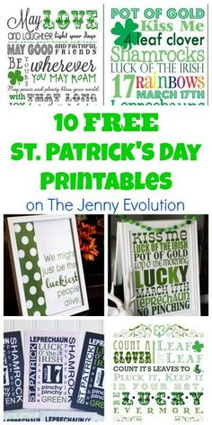 10 Free St. Patrick's Day Printables