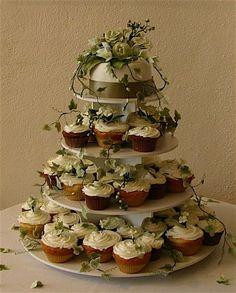 cup cake wedding cake.  cup cake wedding cake.  cup cake wedding cake.