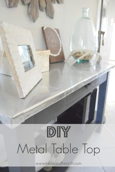 DIY Metal Table Top Tutorial