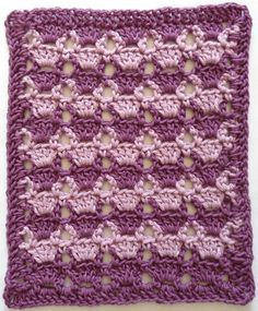 """Free pattern for """"Lilac Lace Square Dishcloth""""!"""