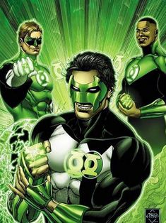 Green Lanterns -Kyle Rayner, Hal Jordan and John Stewart