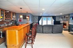 Rec room with built in wet bar - 262 Perch Rock Trail, Winchester, CT - Offered by Heidi Picard Ramsay - http://www.raveis.com/mls/G641141/262perchrocktrl_winchester_ct#