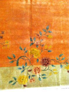 Antique Decorative Chinese Nichol Art Deco Rug Circa 1920