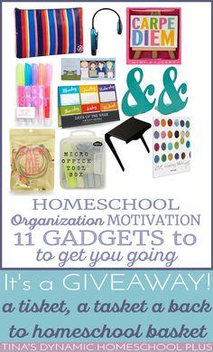 Homeschool Organization Motivation - 11 Gadgets To Get You Going @ Tina's Dynamic Homeschool Plus