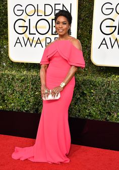 f828f67e9d3 Golden Globes 2017: Fashion From the Red Carpet - Angela Bassett in Csarite  by Erica