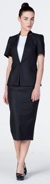Receptionist dress and jacket uniforms pinterest for Uniform for spa receptionist