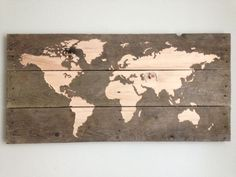 Picture of World Map - CNC Pallet Board