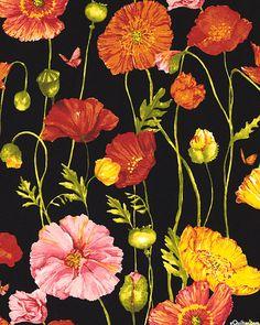 Poppy Garden - Sunshine Petals-Quilt Fabrics from www.eQuilter.com