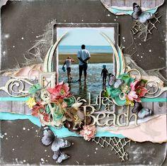 """Life's a Beach"" - Design Team creation for The Scrapbook Store - Echo Park - Jack & Jill - Tina Marie"