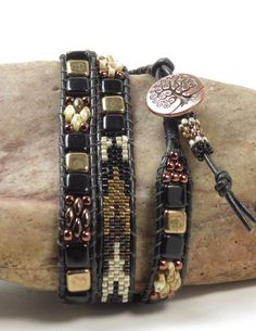 TRIPLE WRAP LEATHER by CinfulBeadCreations on Etsy