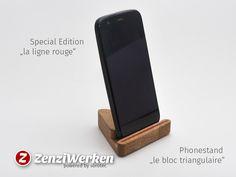 ZenziWerken | Smartphone-Holder le bloc triangulaire - Special Version la ligne rouge
