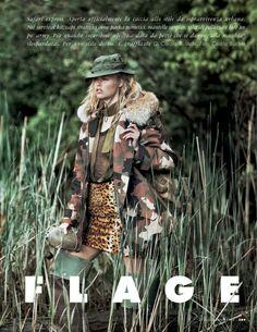 Tendenze Camouflage: Emma Stern Nielsen And Maritza Veer By Cedric Buchet For Elle Italia September 2014
