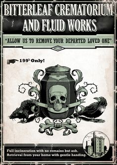 Deshonored - Butterleaf Crematorium And Fluid Works Poster