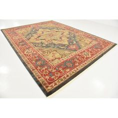 World Menagerie Valley Red Area Rug Rug Size: 9' x 12'