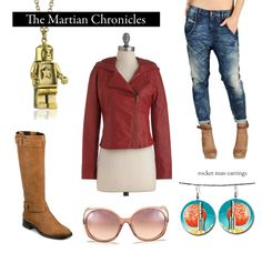 """Outfit inspired by Ray Bradbury'sTheMartian Chronicles.    """"We earth men have a talent for ruining big, beautiful things."""""""