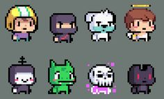 Late night random pixelart doodles.