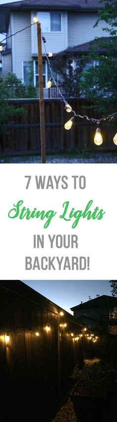 Festive Backyard Lighting Ideas. Turn your backyard into a whimsical oasis with the addition of festive garden and outdoor lights.  Tags ; #backyardchickens #backyardideas #backyards #backyardgarden #backyardshed