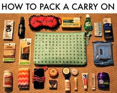 How to Pack a Carry On. Carry On Necessities for the Pampered Traveler. I always need help packing, I'm going to try this next time Suitcase Packing, Packing Tips For Travel, Travel Essentials, Traveling Tips, Packing Ideas, Travel Hacks, Packing Checklist, Pack Suitcase, Travel Guide