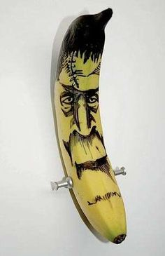 Banana Doodle Art: Funny Creations Drawn on Unique Canvases