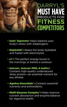 6 Tips for Fitness Competitors  Athletes from Isagenix Trainer Darryl Daniels  IsaFYIcom