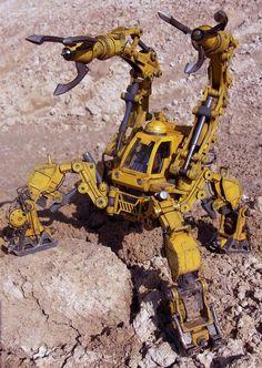 Warhammer 40000, Military Robot, Apocalypse Character, Robot Animal, Cyberpunk City, Sci Fi Models, Spaceship Art, Art Painting Gallery, Robot Concept Art