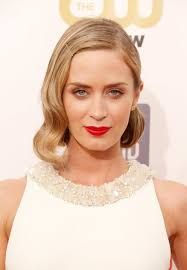 Image result for long layered blunt bob emily blunt hollywood wave