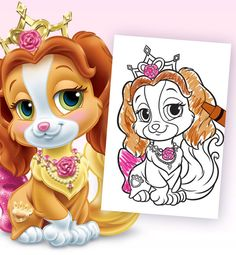 Celebrate with Disney: Palace Pets party ideas. Teacup Colouring Page.