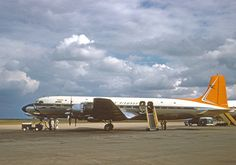 """South African Airways ZS-DKD 'Dromedaris"""" Douglas DC-7B, delivered February 1956."""