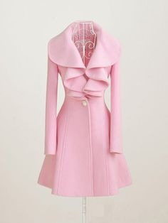 Love this pink trench coat!