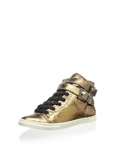 www.myhabit.com  Mid-rise style crafted of luxe crackled metallic leather boasts an edgy double buckle accent